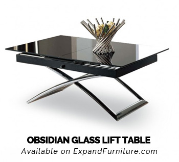 Obsidian Small Table Glass Lift