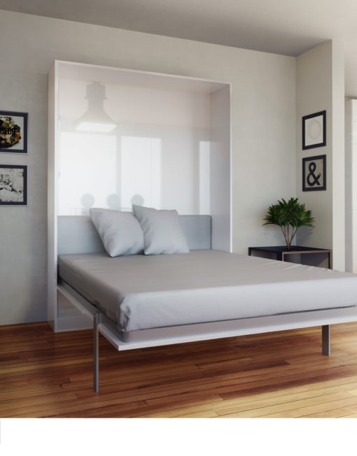 Hover compact wall bed queen size expand furniture Modern murphy bed