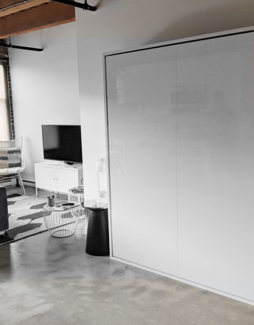 Hover-White-Gloss-Queen-wall-murphy-bed-in-a-modern-home-from-Expand-Furniture