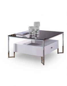 Black Modern Glass Hover Coffee Table