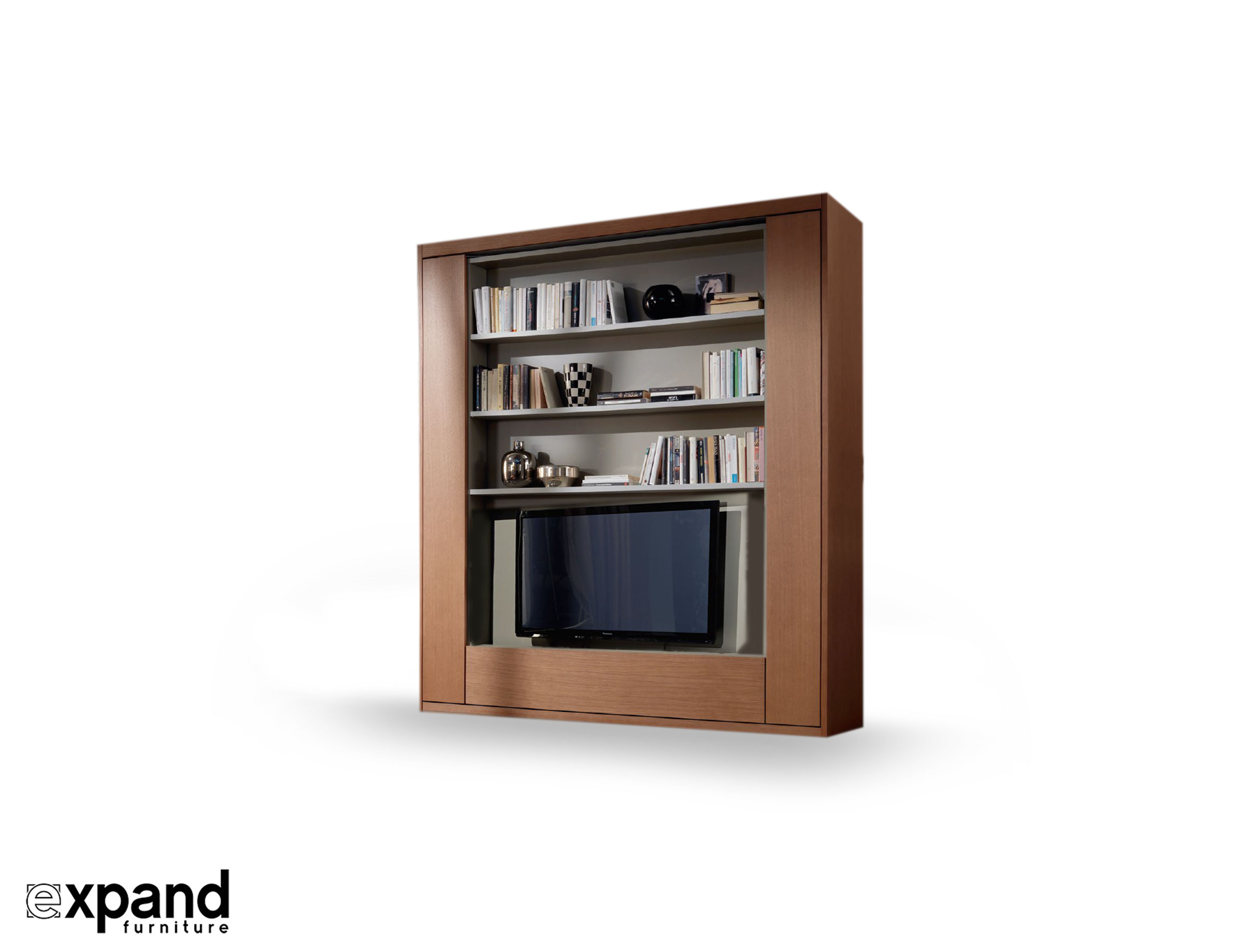 Amore Revolving Tv Murphy Bed Expand Furniture # Meuble Tv Transparent