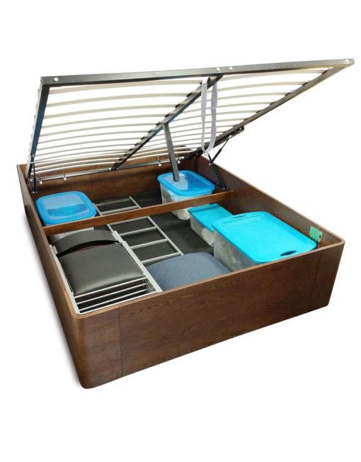 Pratico-2-walnut-deep-storage-lift-bed-with-headboard-removed