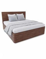 Pratico-King-Lift-storage-bed-in-walnut-wood-curved