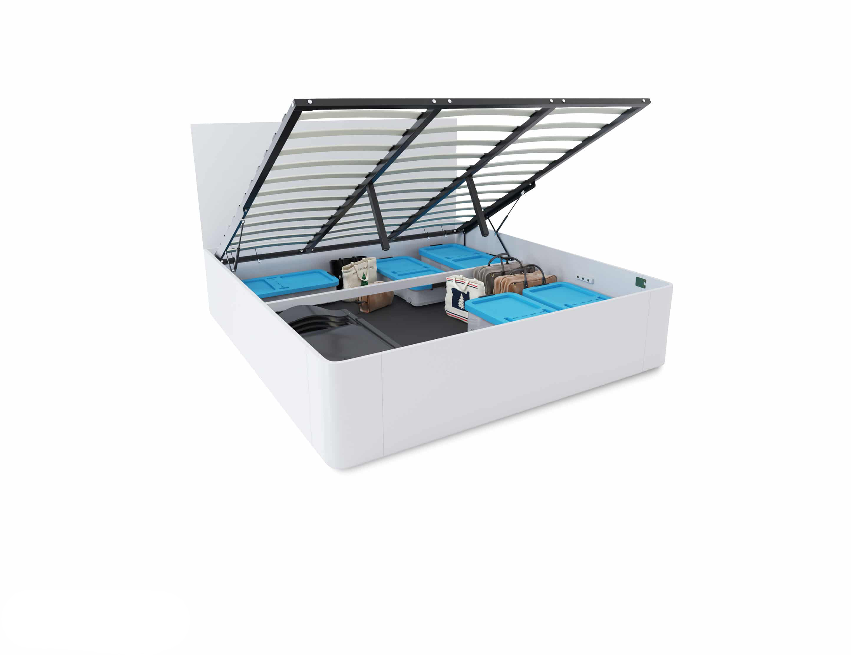 Pratico King Storage Bed With Gas Lift Expand Furniture Folding Tables Smarter Wall Beds Space Savers