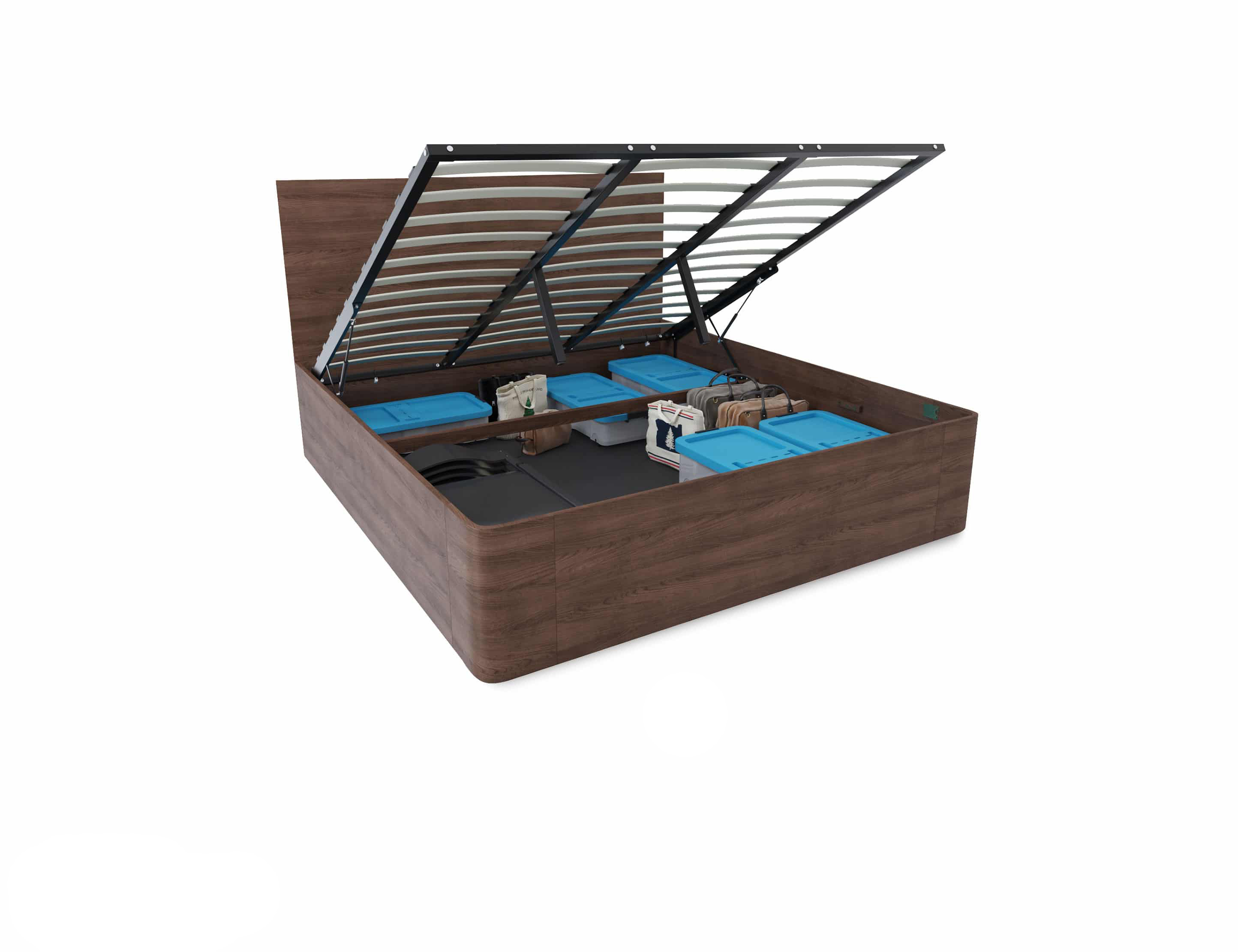Picture of: Pratico King Storage Bed With Gas Lift Expand Furniture Folding Tables Smarter Wall Beds Space Savers