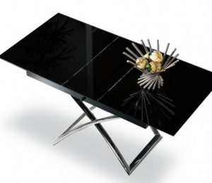 obsidian small table glass lift expand furniture