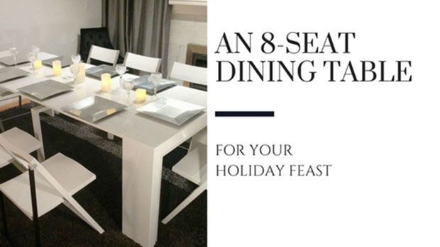 an 8 seat dining table for your holiday feast