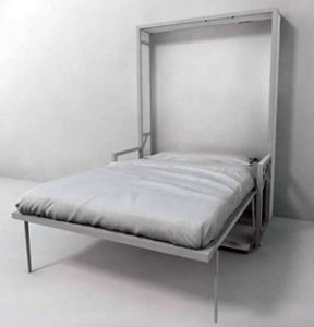 free standing wall bed with panels