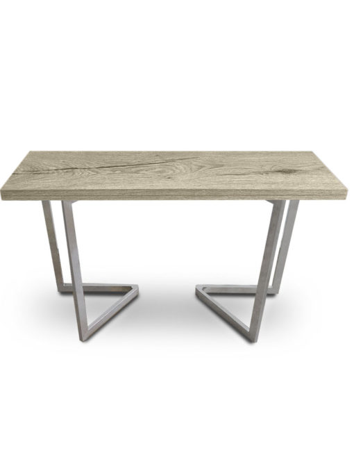 Grano wood panel flip console to table
