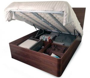 Pratico lift bed easy access to storage