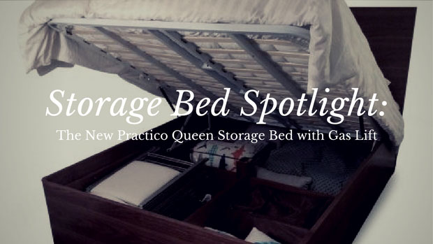 storage bed spotlight the new practico queen storage bed with gas lift
