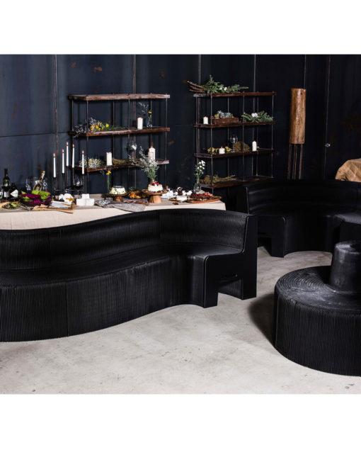 Flexible Love Lava Black Bending Seat Expand Furniture