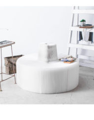 Flexible-Love---Marble-extending-paper-chair-in-round-shape