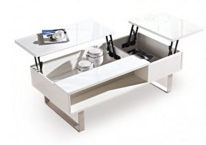 Occam coffee table with dual lift tops for sofa bed
