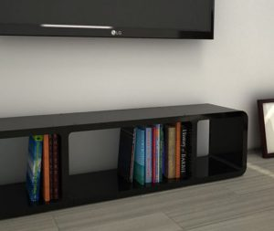 StorageTM3 black slim tv stand for sofa bed