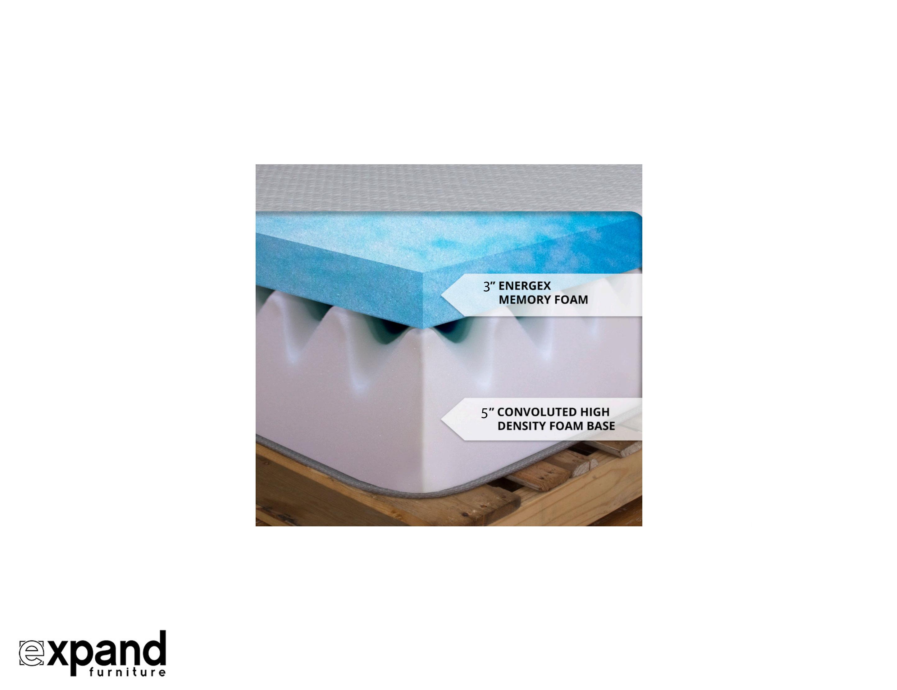 Expand 8 Inch Gel infused Memory Foam Mattress
