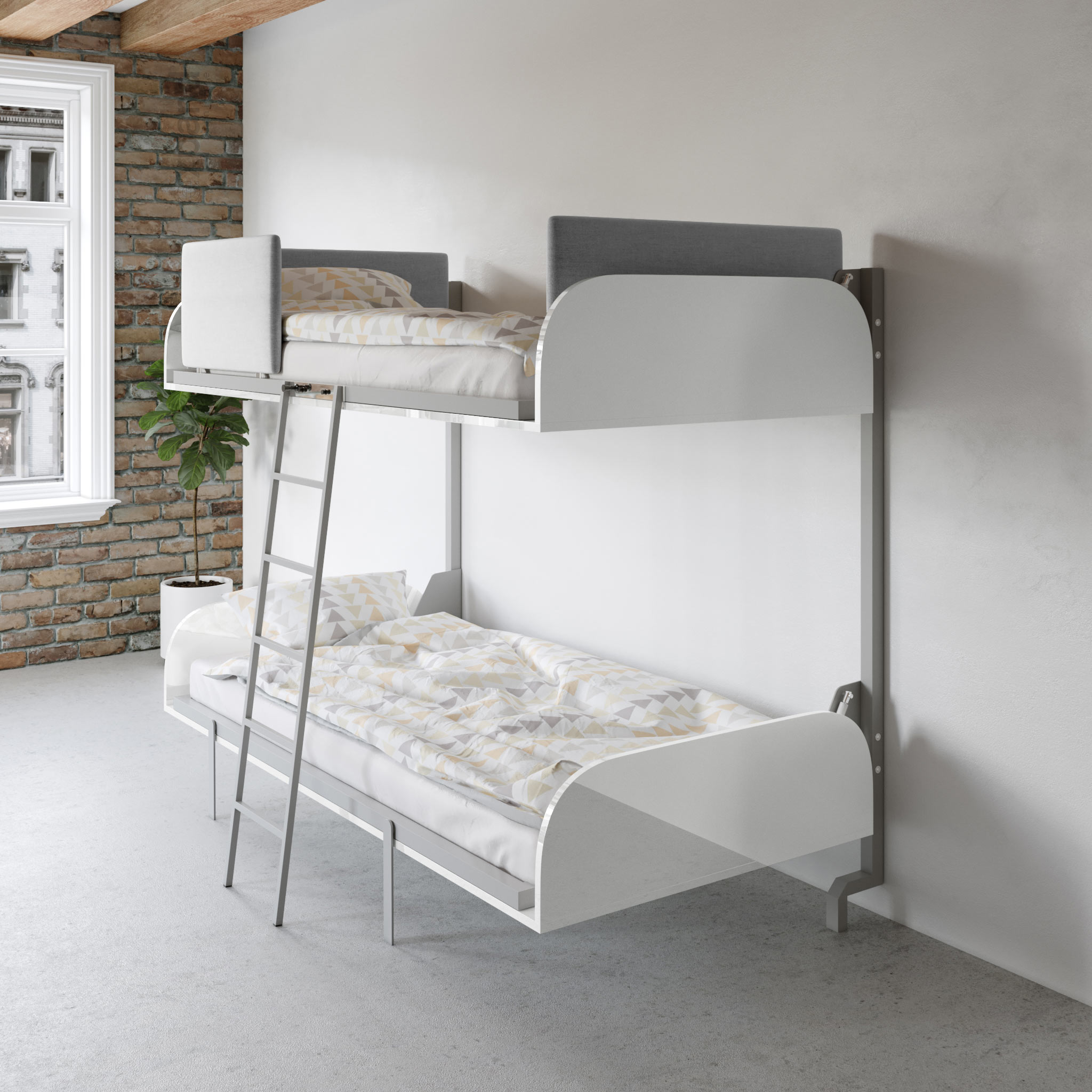 Hover Compact Fold Away Wall Bunk Beds Expand