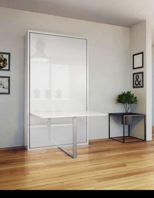 Hover-Single-Vertical-Wall-Bed-with-Table-Desk-in-room-