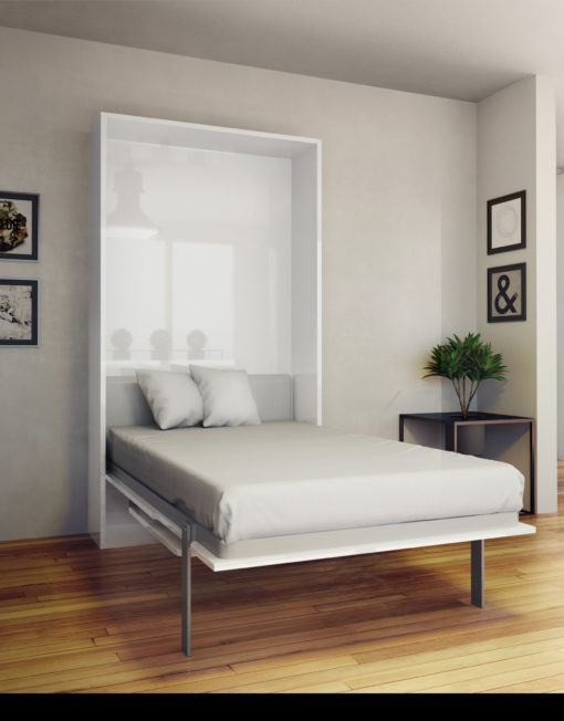 The Hover Single Vertical Wall Bed With Table Desk