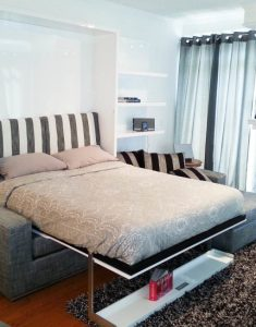 sectional wall bed space saving