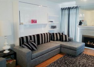 sofa wall bed with aditional features