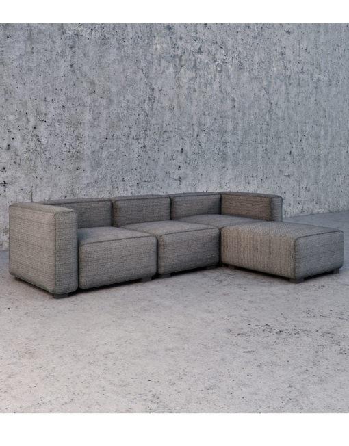 Soft cube modern modular sofa set expand furniture for Modern modular sectional puzzle sofa