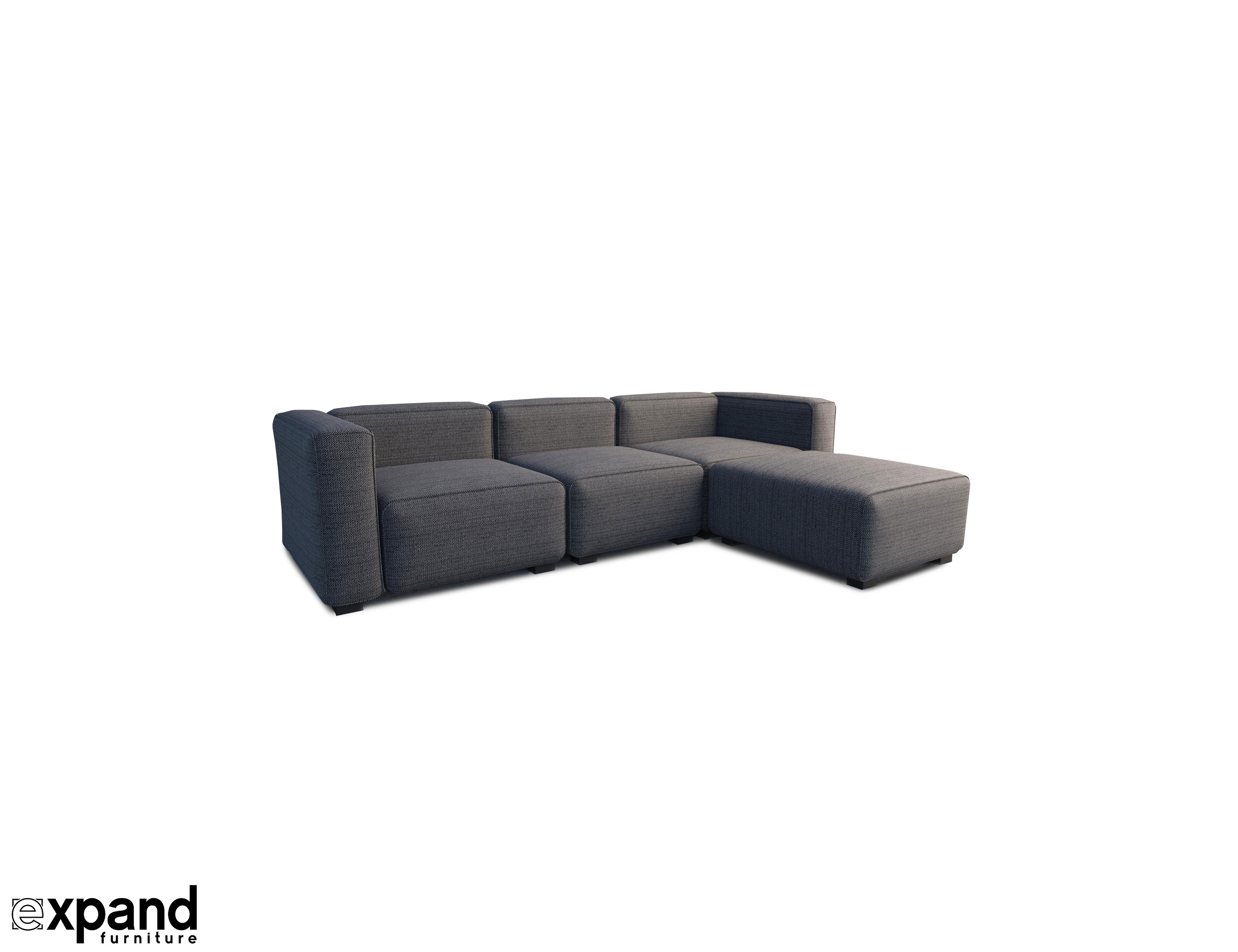 Soft Cube Modern Modular Sofa Set Expand Furniture