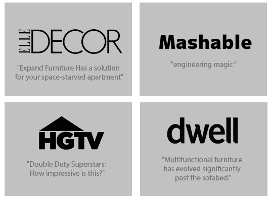 Expand Furniture, On HGTV, Dwell And Other News Outlets For Our Space  Saving Furniture