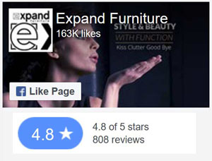 Our facebook likes, for our many hig quality modern foldable stackable tranformable furniture pieces