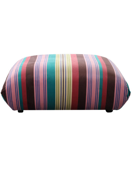 Basso colorful striped ottoman designer bubble sofa module from front