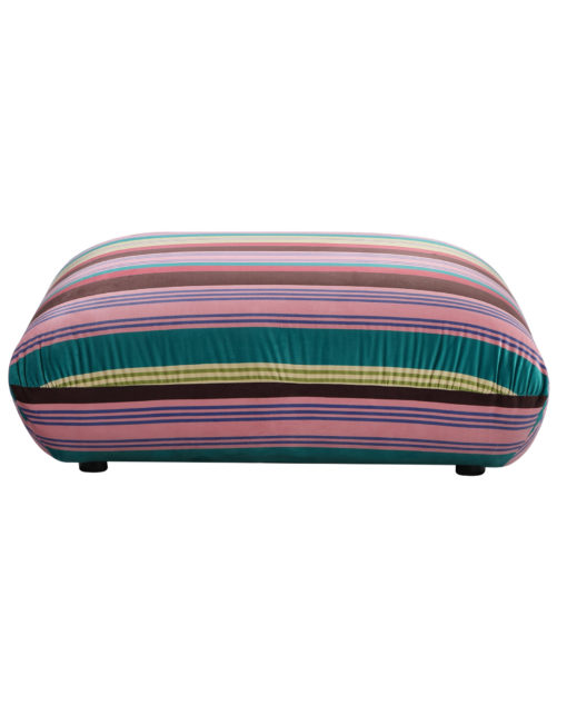 Basso colorful striped ottoman designer bubble sofa module from side