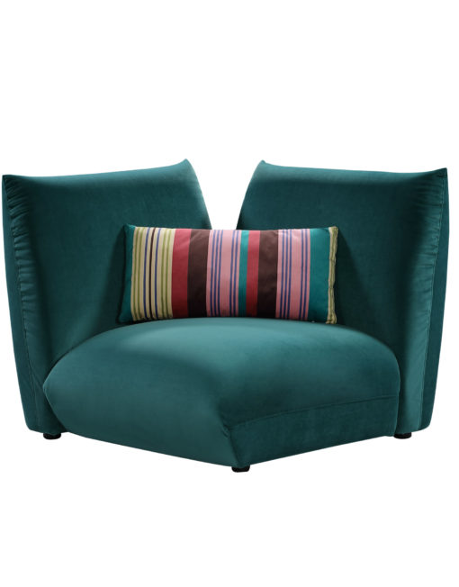 Basso-dark-green-corner-module-for-bubble-designers-sofa