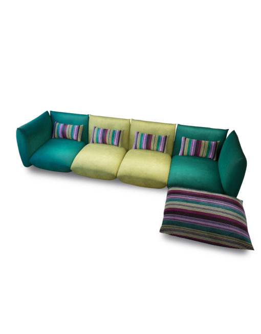 Basso-green-colorful-modular-low-profile-sofa-set-for-modern-apartments