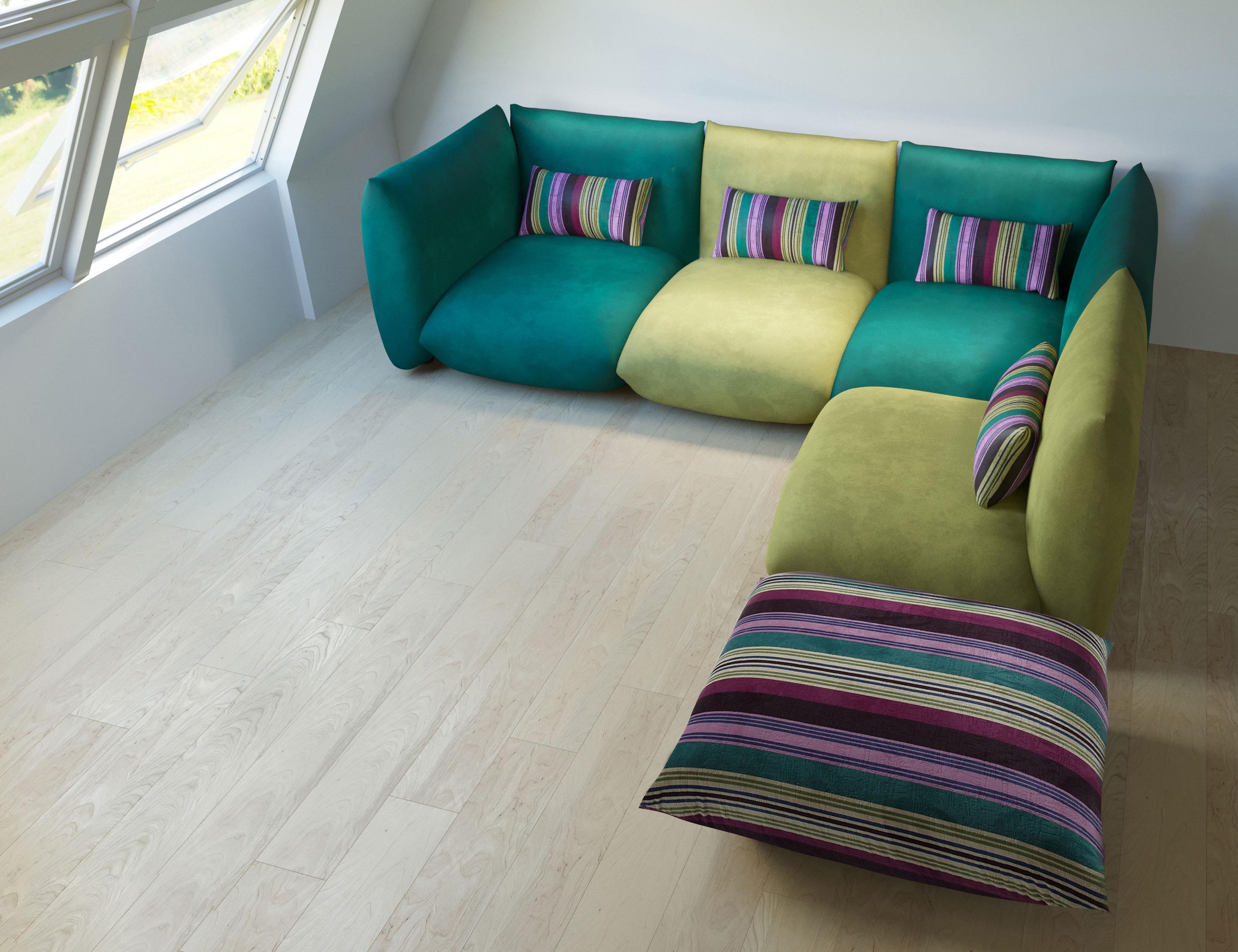 Modular Low Profile Sectional Sofa Set