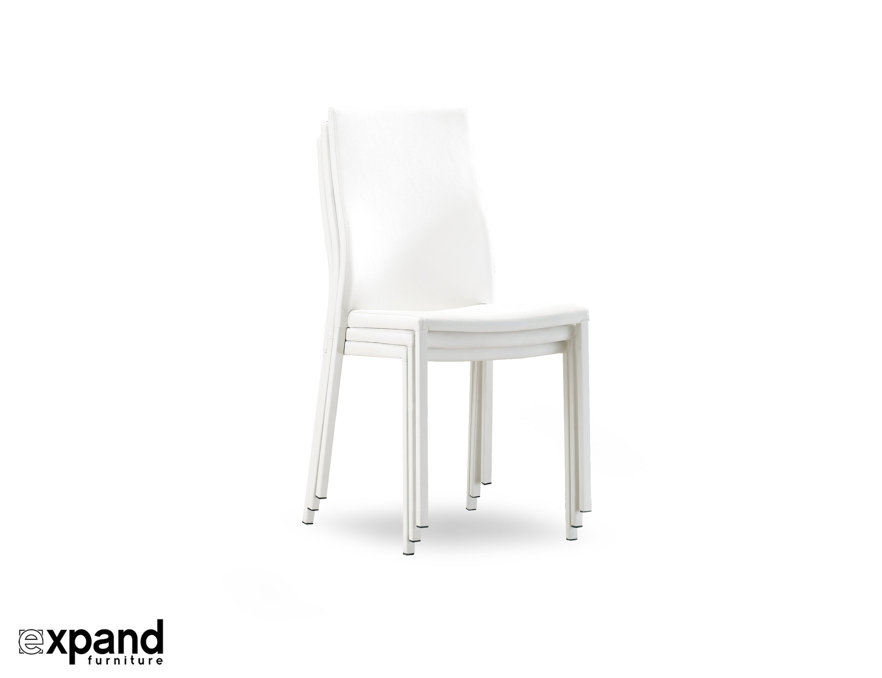 Stupendous Bella White Designer Stackable Chairs Set Of 4 Ibusinesslaw Wood Chair Design Ideas Ibusinesslaworg