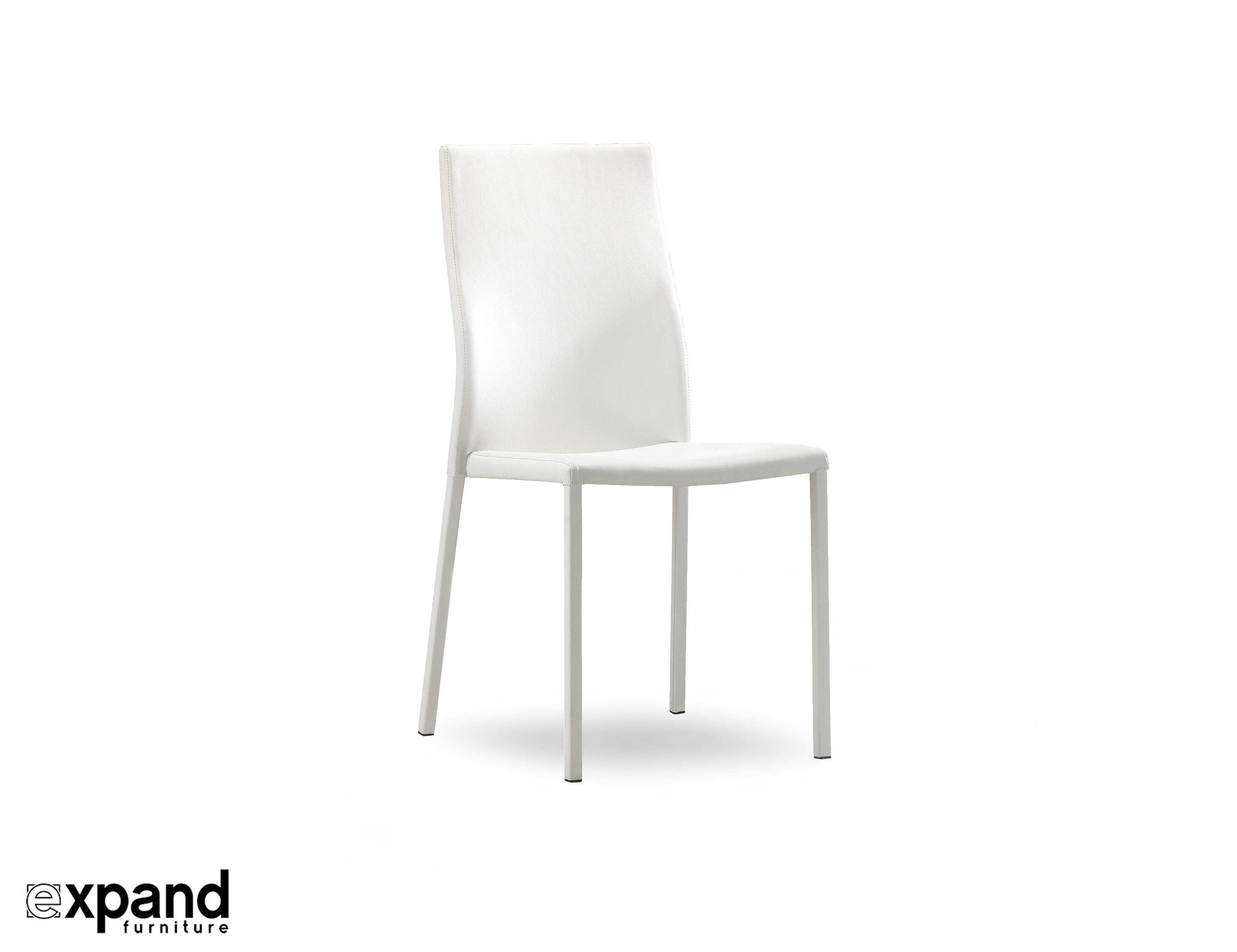 Bella White Designer Stackable Chairs Set Of 4