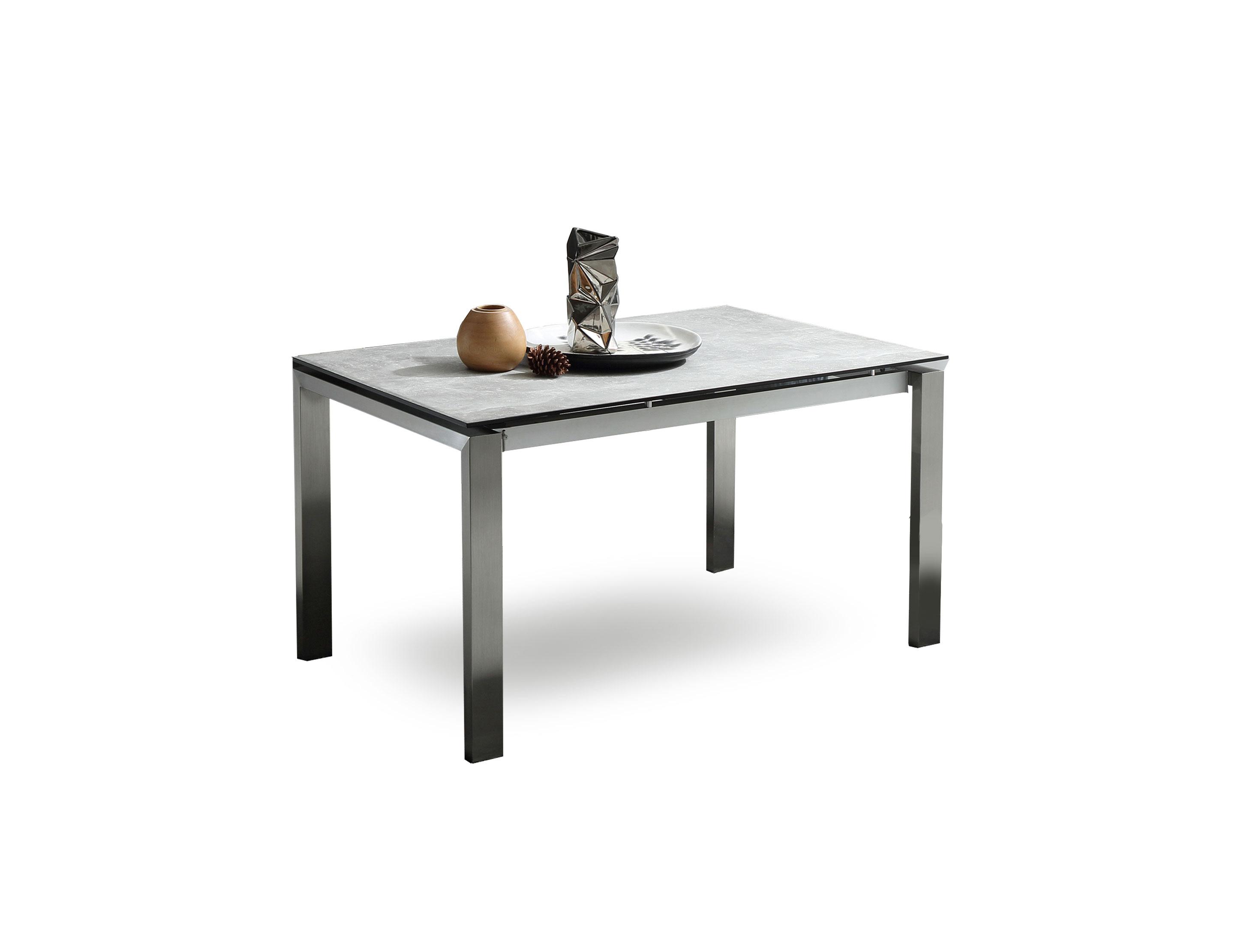 The Slate: Grey Ceramic Glass Top Table