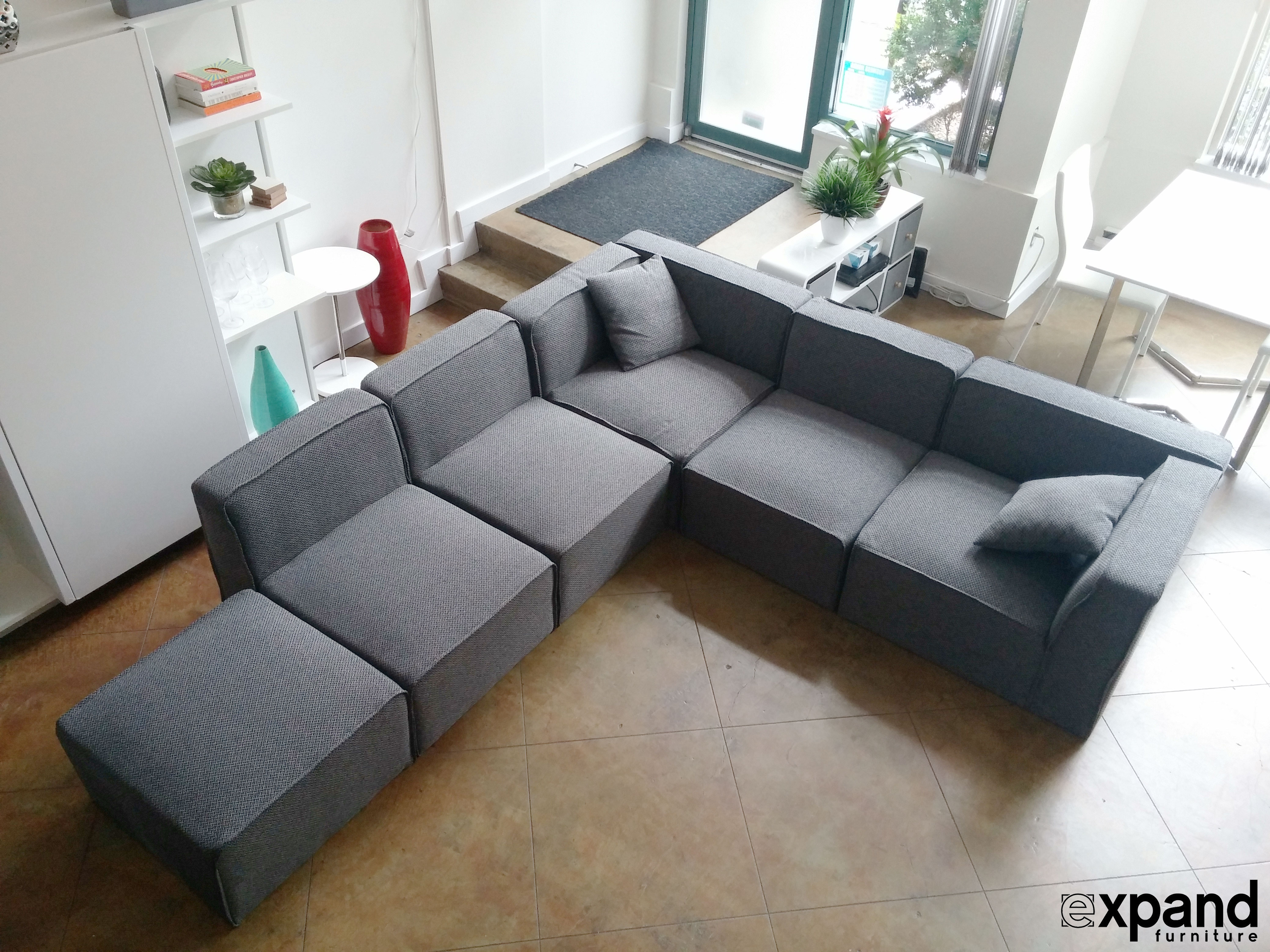 Soft Cube Modern Modular Sofa Set Expand Furniture Folding