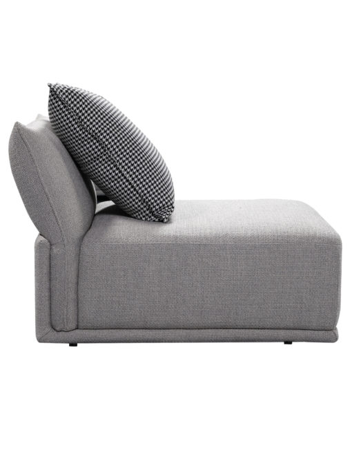 Stratus single sofa module in grey from side