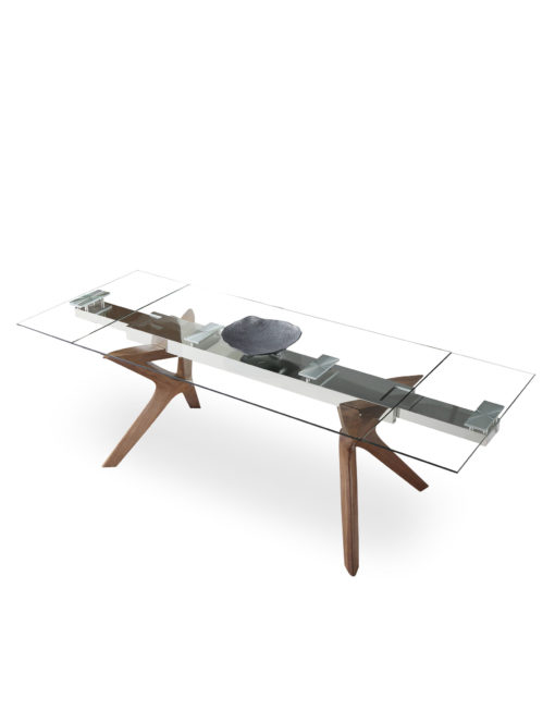 The-Bridge--transparent-glass-rectangular-table-with-extensions-on-each-side