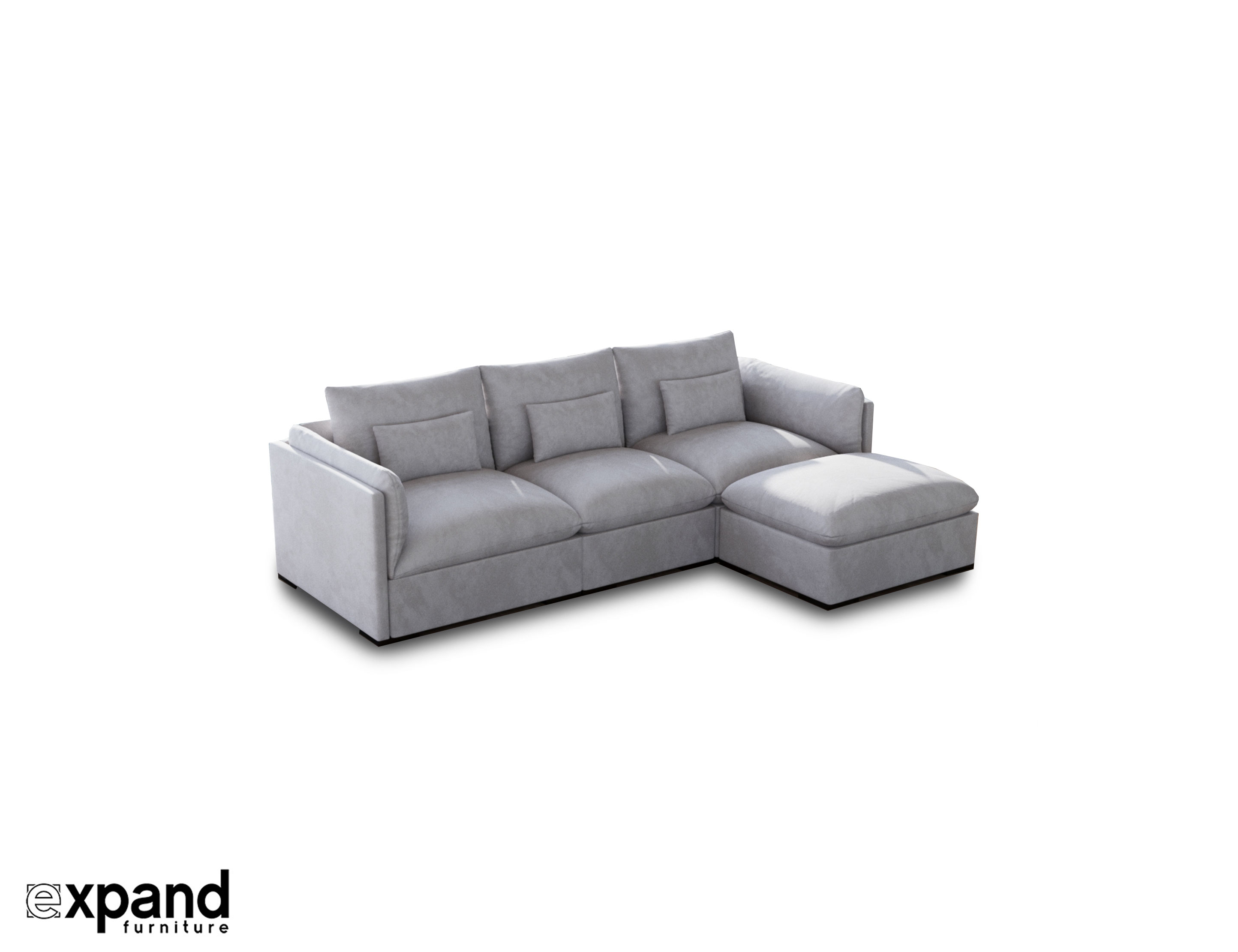 Adagio Luxury Sectional Modular Sofa Set Of 4 Expand