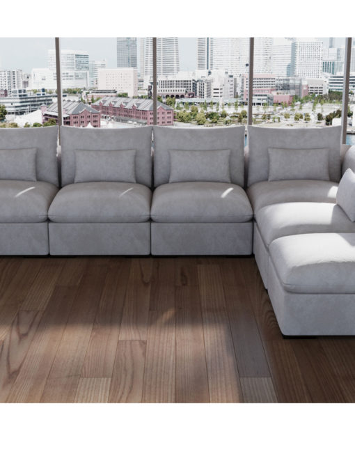 Adagio-goose-down-feather-sofa-set-of-6-built-with-modules