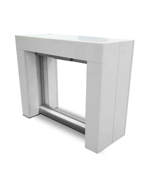 Cubist Console Table With Built In Extension Storage