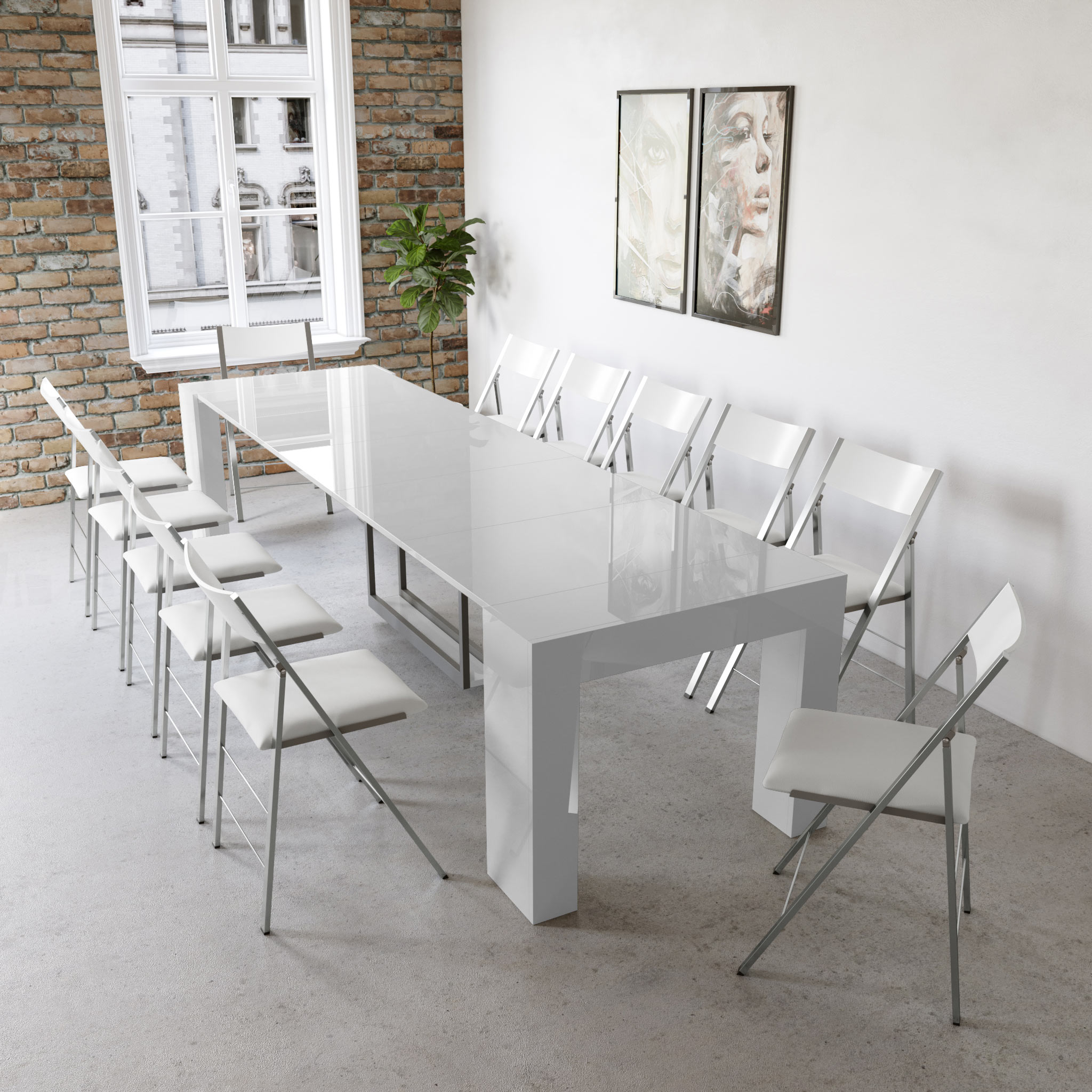 Terrific Cubist Table With Built In Extension Storage Download Free Architecture Designs Embacsunscenecom