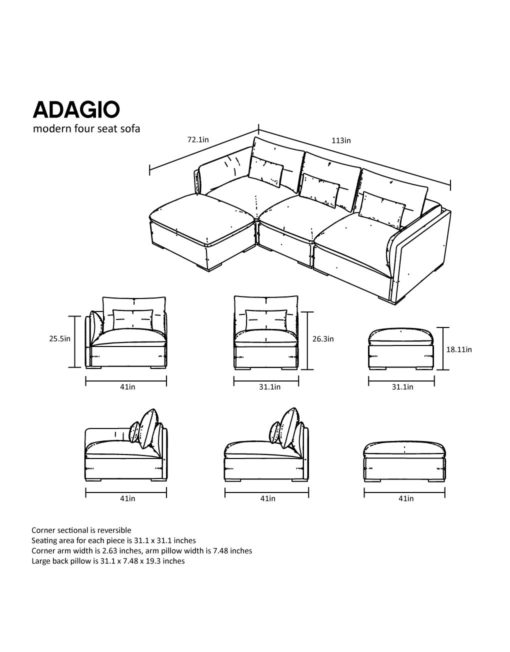 outline-sofa-adagio-4-piece
