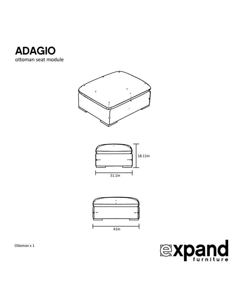 Adagio ottoman measurement