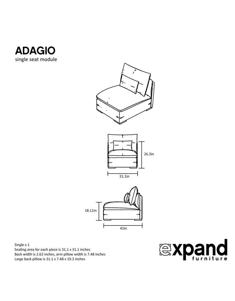 measurements of single adagio