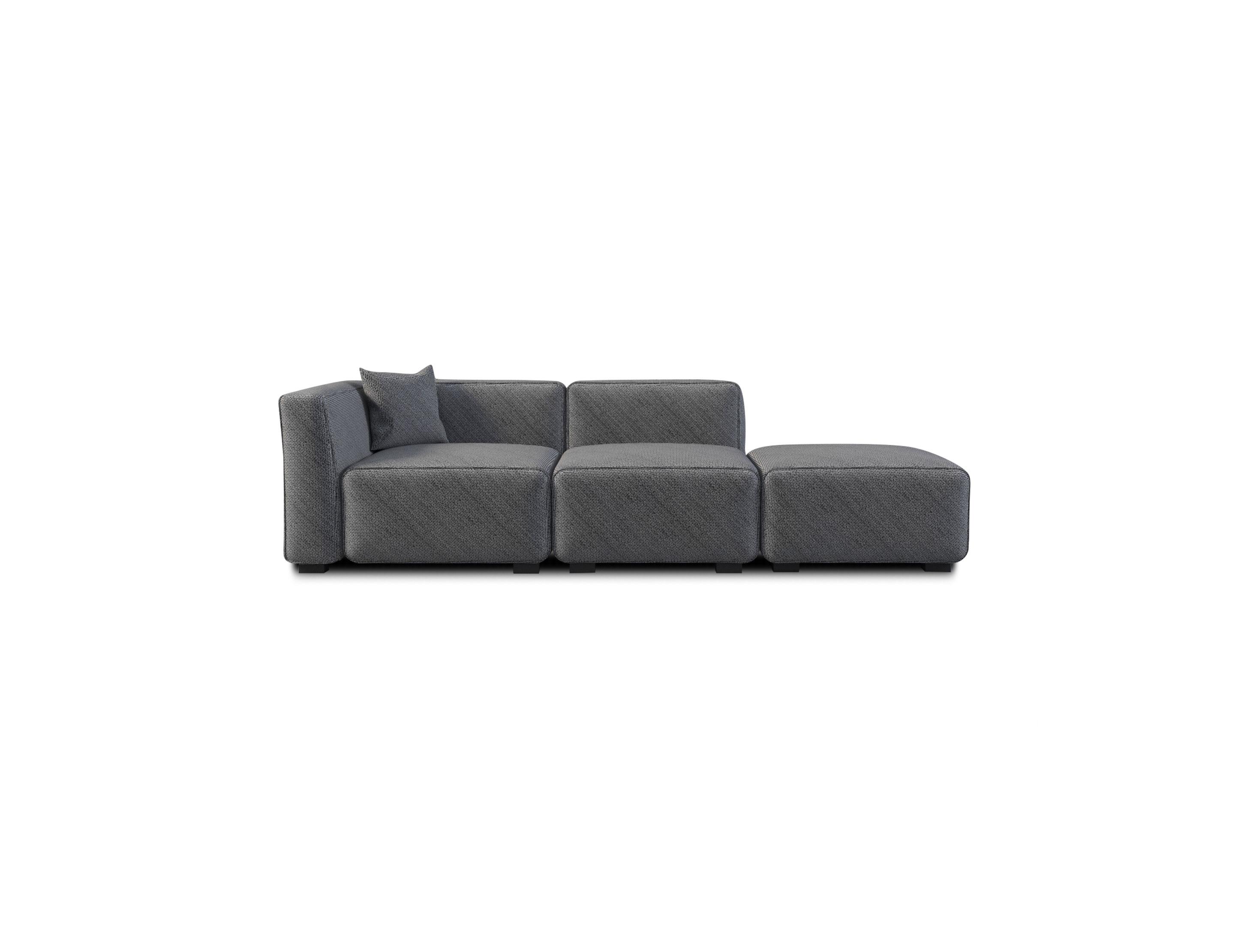 Soft Cube Contemporary Sofa 3 Seats