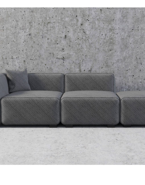 The Soft Cube Contemporary Sofa 3 Seats Modern