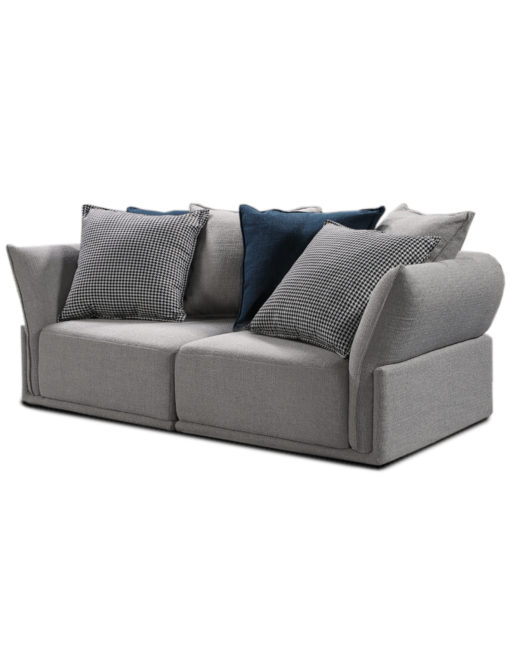 2-seat-stratus-modular-sofa-in-grey-with-blue-and-check-pillows